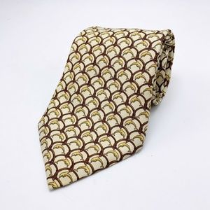 Brooks Brothers Makers Mens Necktie Tie Red Beige